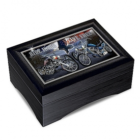 Motor Marc Lacourciere Ride Hard, Live Free Wooden Keepsake Box