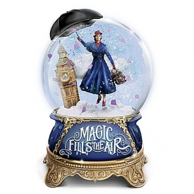 Disney Mary Poppins Returns Musical Glitter Globe