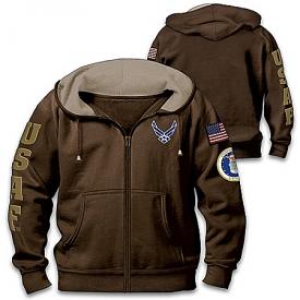 Air Force Pride Men's Front-Zip Hoodie