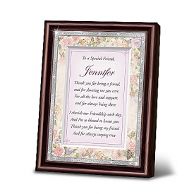 My Special Friend Personalized Poem In Mahogany-Finished Frame