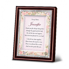 My Sister, My Best Friend Personalized Poem In Mahogany-Finished Frame
