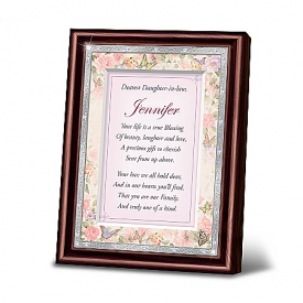 My Dearest Daughter-In-Law Personalized Poem In Mahogany-Finished Frame