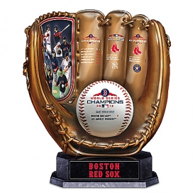 2018 MLB World Series Champions Boston Red Sox Cold-Cast Bronze Glove Sculpture
