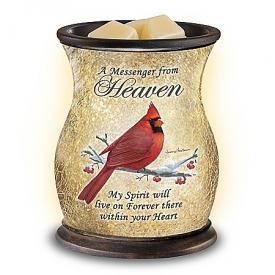 Heavenly Comfort Cardinal-Themed Illuminated Glass Wax Warmer
