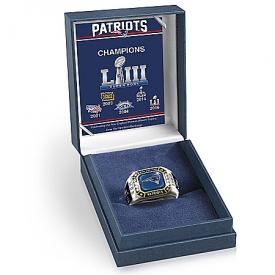 New England Patriots Super Bowl LIII Men's Personalized Commemorative NFL Fan Ring