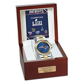 Unrivaled Legends New England Patriots Super Bowl LIII Champions Commemorative Men's NFL Diamond Watch