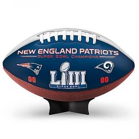 New England Patriots Super Bowl LIII Champions NFL Commemorative Football