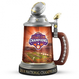 Clemson Tigers 2018 Football National Championship Porcelain Stein