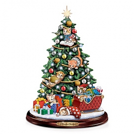A Purrrfect Christmas Tabletop Tree