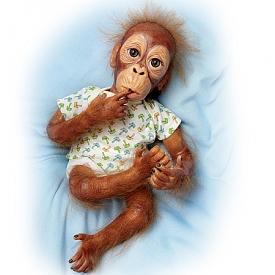 Lifelike Baby Orangutan Doll: Baby Pongo
