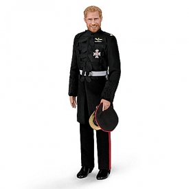 Prince Harry, Royal Romance Fine-Porcelain Groom Doll