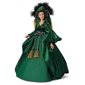 Gone With The Wind: Scarlett O'Hara Dressed Like A Queen Talking Portrait Doll