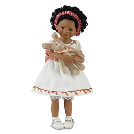 Mayra Garza Shaniqua And Her Bunny Lifelike Child Doll