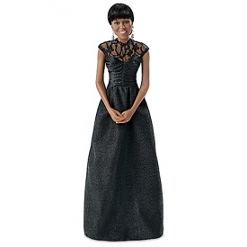 First Lady Michelle Obama 2013 White House Correspondents Dinner Portrait Doll