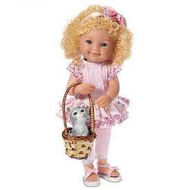 Love Is A Four Legged Friend Lifelike Poseable Child Doll With Kitten Friend