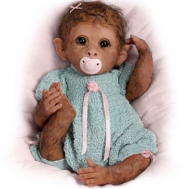 Clementine So Truly Real Lifelike Baby Monkey Doll By Linda Murray