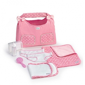 Diaper Bag Baby Doll Accessory Set Diaper Pad And Milk Bottle