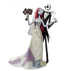 Disney Tim Burton's The Nightmare Before Christmas Jack And Sally's Nightmare Romance Doll Set