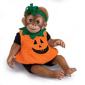 So Truly Real Daisy, Our Li'l Pumpkin Lifelike Monkey Doll