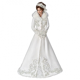 Cindy McClure Winter Romance Wedding Bride Doll