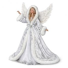 Collector's Edition Silent Night Angel Musical Illuminated Portrait Doll