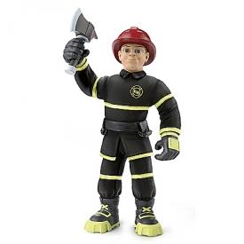 Everyday Heroes Fireman Finn Poseable Plush Action Figure