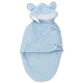Blue Bear Fleece Bunting Baby Doll Accessory