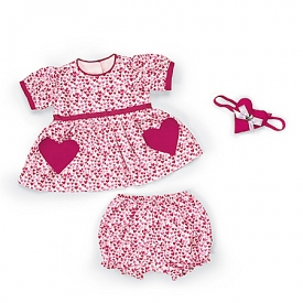 Be My Valentine Heart-Shaped Pattern Baby Doll Accessory Set
