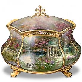 Thomas Kinkade Garden of Prayer Faith Music Box