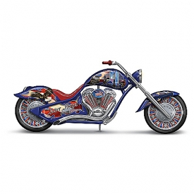 """Never Forget"" Patriotic Motorcycle Figurine: Commemorating September 11, 2001"