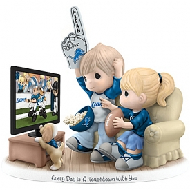 Every Day Is A Touchdown With You Collectible Detroit Lions Figurine