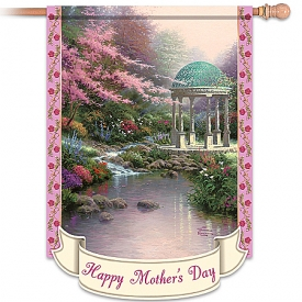 Thomas Kinkade Happy Mother's Day Outdoor Decorative Flag
