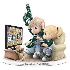 Every Day Is A Slam Dunk With You Michigan State Spartans Precious Moments Figurine
