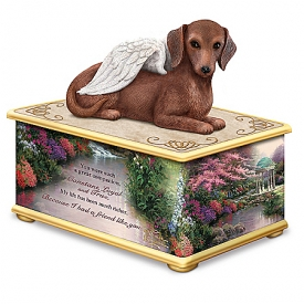 Handcrafted Thomas Kinkade My Forever Friend Dachshund Keepsake Memory Box