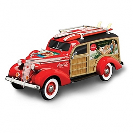 1:18-Scale COCA-COLA Cruising To Refreshment Woody Wagon Sculpture