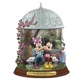 Disney Thomas Kinkade Love Is The Magic That Keeps Us Together Personalized Figurine