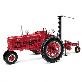 1:16-Scale Farmall 300 Gas Narrow Front With Sickle Mower Diecast Tractor And Farmall Ornament Set