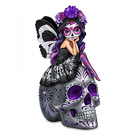 Jasmine Becket-Griffith Spirit Of The Dearly Loved Glow-In-The-Dark Sugar Skull Figurine