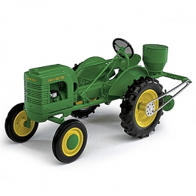1:16-Scale John Deere Model L With Planter & Chain-Driven Pulley Diecast Tractor