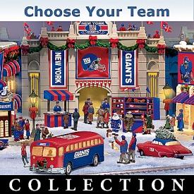 Collectible NFL Football Christmas Village Collection: NFL Memorabilia