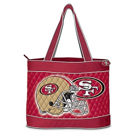 """Choose Your Team"" NFL Team Tote Bag With Two Free Cosmetic Accessory Case"