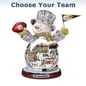 NFL Figurine: Crystal Snowman