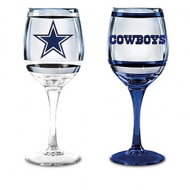 Choose Your Team NFL Wine Glass Collection: Set Of Two Stem Wine Glasses