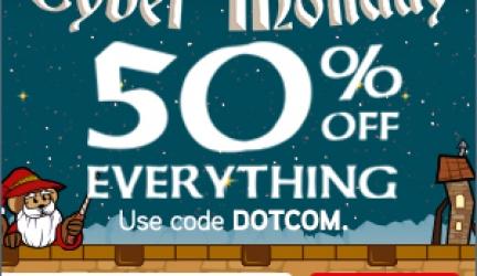 ThinkGeek CyberMonday 50% Off Site Wide