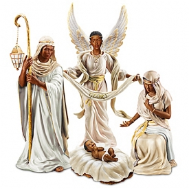 King Of Peace African-American Christmas Nativity Figurine Set