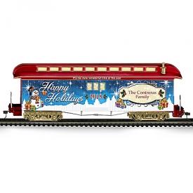 2018 Illuminated Personalized Holiday Train Car