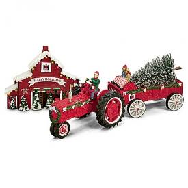 75 Years Of Farmall Red Anniversary Edition Christmas Figurine Set