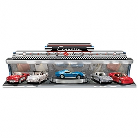 Corvette – America's Sports Car Diecast Car Set With Art Deco-Style Illuminated Display