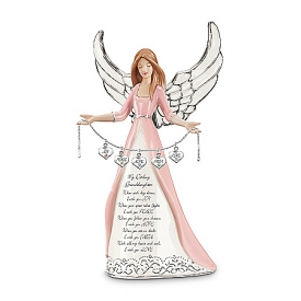 Darling Granddaughter, I Wish You Collectible Angel Figurine Gift