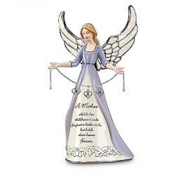 A Mother's Love Birthstone Charm Angel Figurine